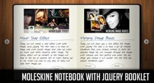 【Ajax】本をめくるような効果が簡単に作れる『Moleskine Notebook with jQuery Booklet』